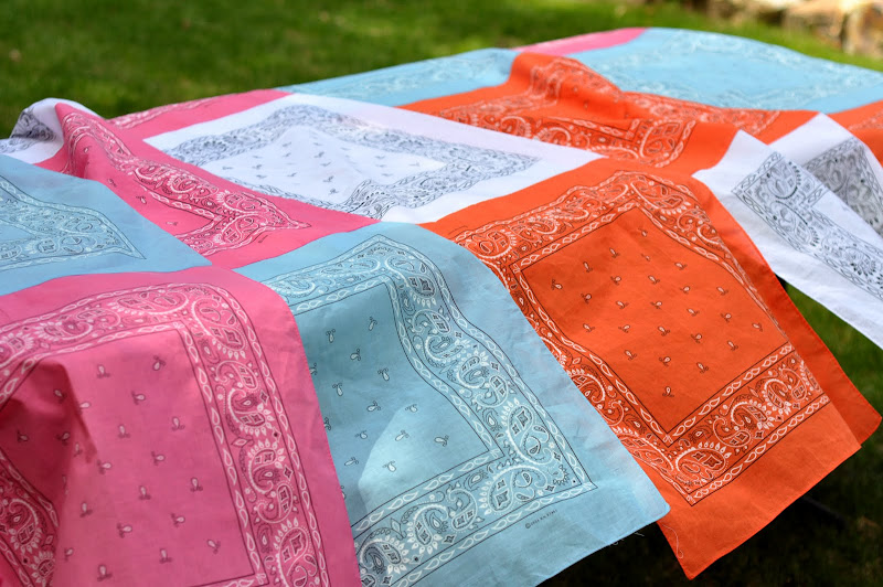 Aesthetic Nest Sewing Bandana Quilt Tablecloth Tutorial