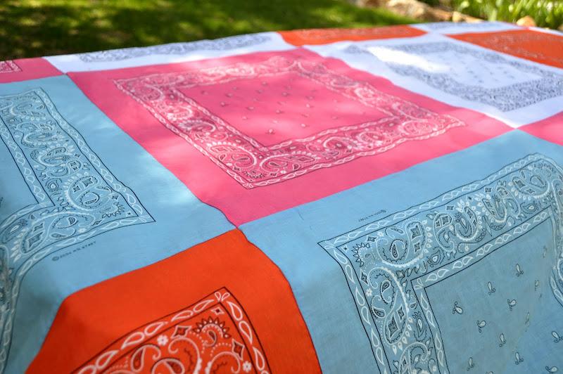 Sewing: Bandana Quilt Tablecloth (Tutorial)