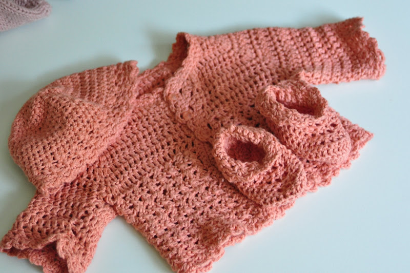Aesthetic Nest Crochet Coral Baby Layette