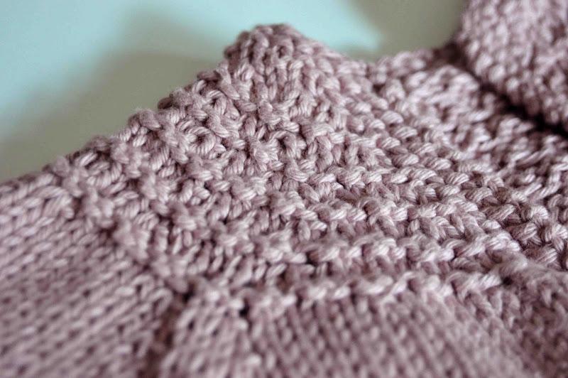 Lace Yoke Knitting Pattern : Aesthetic Nest: Knitting: Lace Yoked Sweaters in Dusty Rose