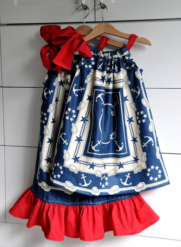 Cute Ideas For Pillowcase Dresses : Lana Tran: Sewing: Patriotic Pillowcase Dresses