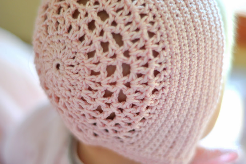 Aesthetic Nest: Crochet: Blessing Day Bonnet in Blush