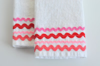 Tutorial: Rick Rack Dish Towels