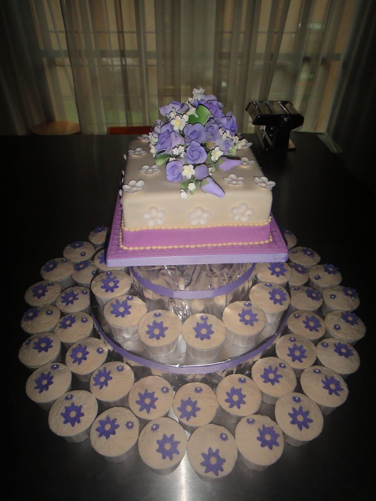 Sugarlicious & Sugarcraft By Naz Hashim Lavender Wedding cake