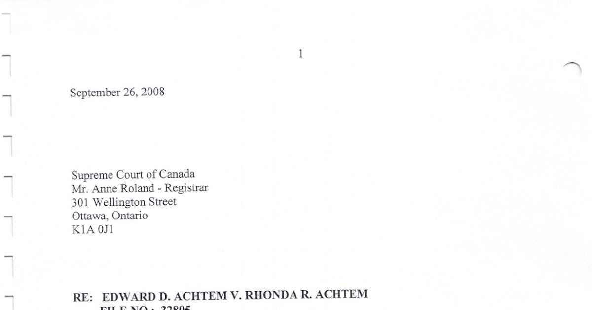 respondent to application in alberta