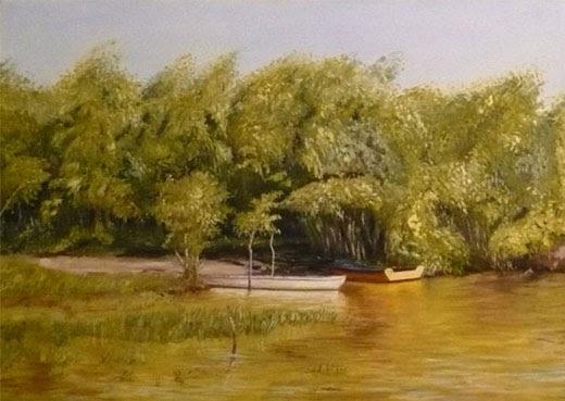 Venta de cuadros pintados al oleo paisajes al oleo for Comprar cuadros al oleo