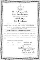 Sijil Pendaftaran KOKAMI Pada 01 Oktober, 2007