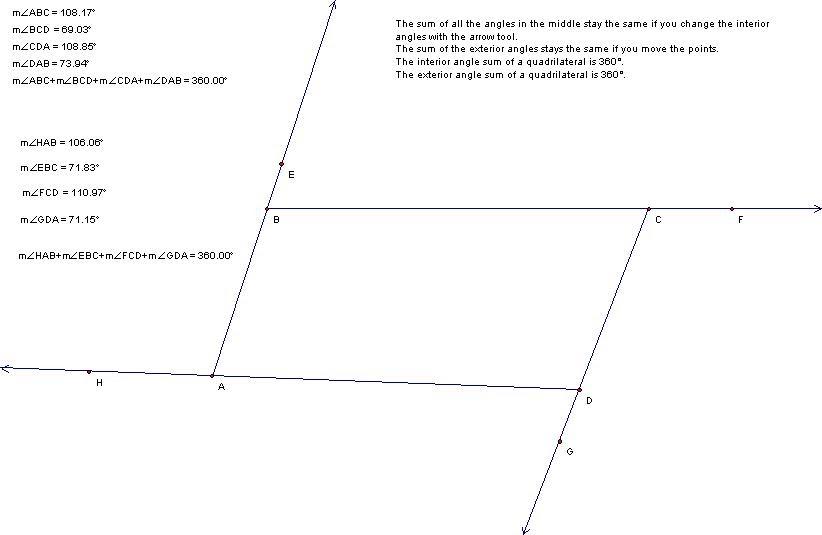 Tadpoles Interior Exterior Angles Of A Quadrilateral