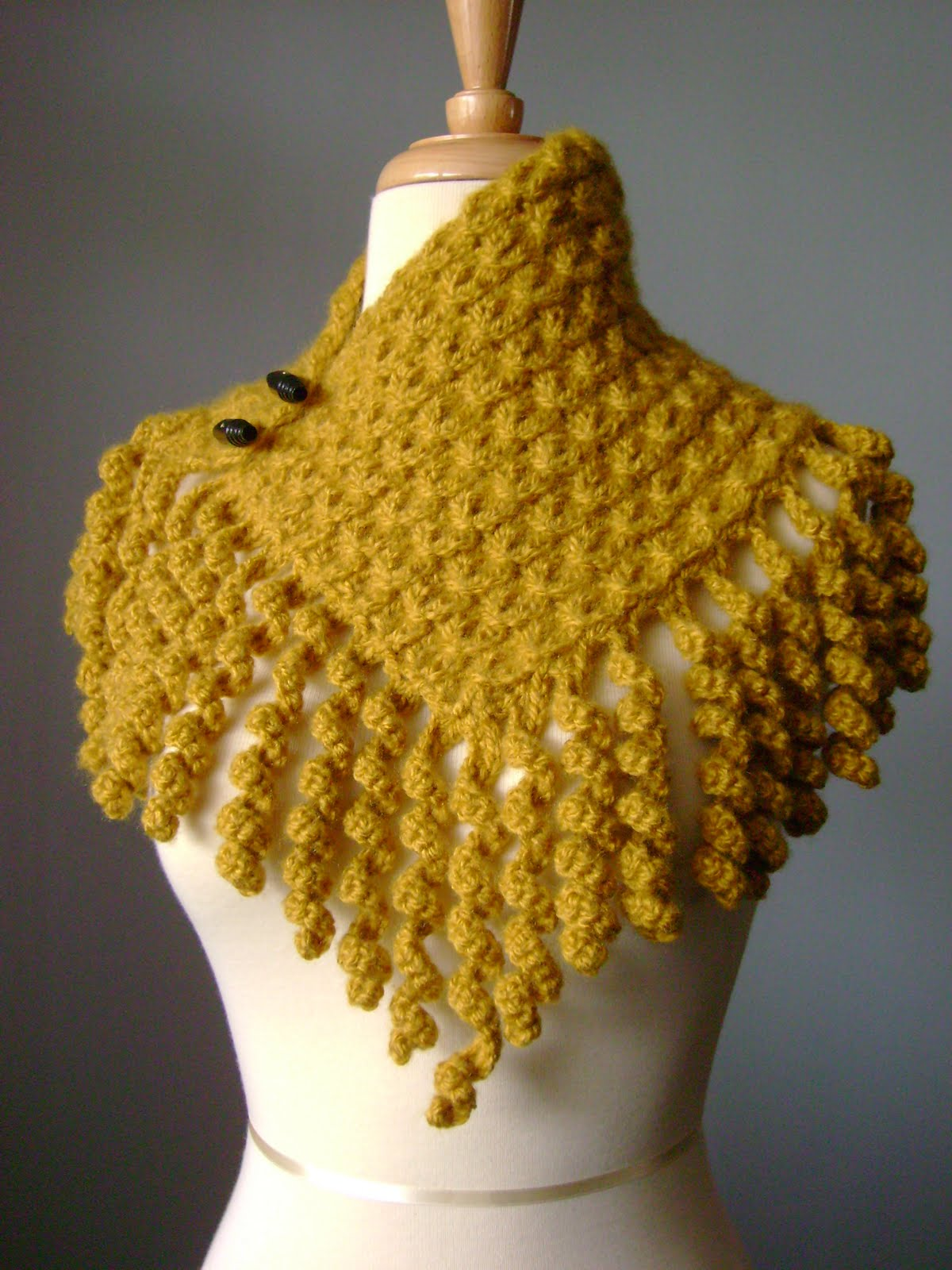 Knitting With Crochet : Laboratory of Fashion: Knitted asymmetrical cowl / scarf with a fringe