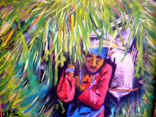 Woman in Katmandú (Nepal) / Labriega de Katmandú  Oleo 2007 - E.V.Pita... http://evpitapinturas.blogspot.com/2015/01/woman-in-katmandu-nepal-labriega-de.html