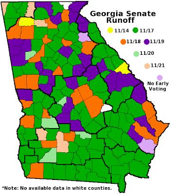 Frontloading HQ November - Georgia voting map
