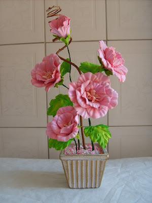 Descobri Uma Nova Tecnica De Pintura Das Flores Em Eva Usando Tinta De