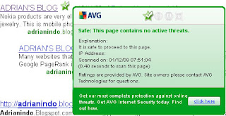 Google Search Engine With AVG