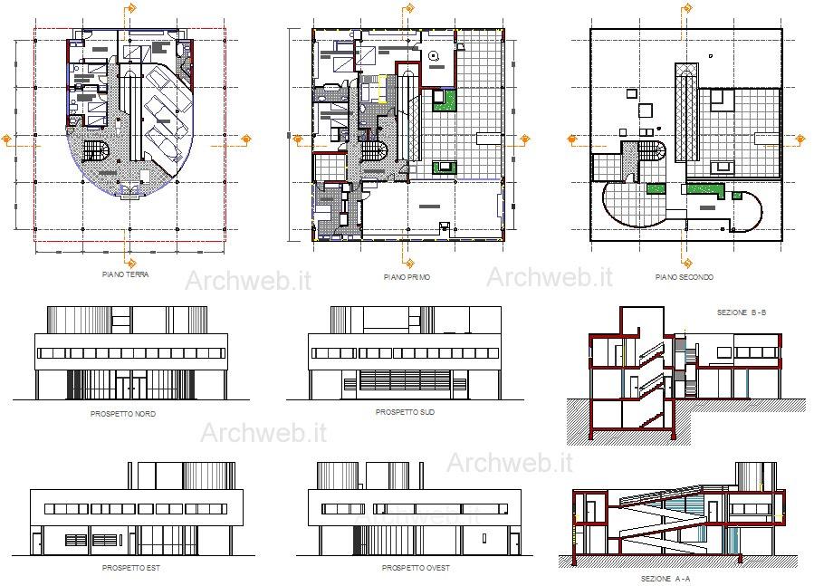 progetti architetti famosi villa savoye di le corbusier