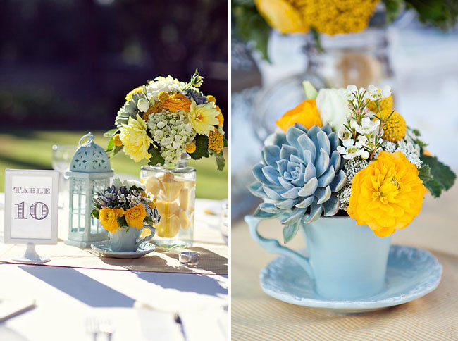 Little sooti party inspiration aqua blue yellow wedding