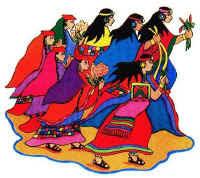 Hermanos Ayar, protagonistas de la leyenda de la Fundación del Imperio Incaico.