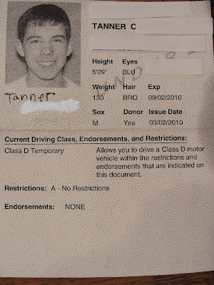 Matt 39 s basic life occasional adventure it 39 s official for Texas temporary drivers license template