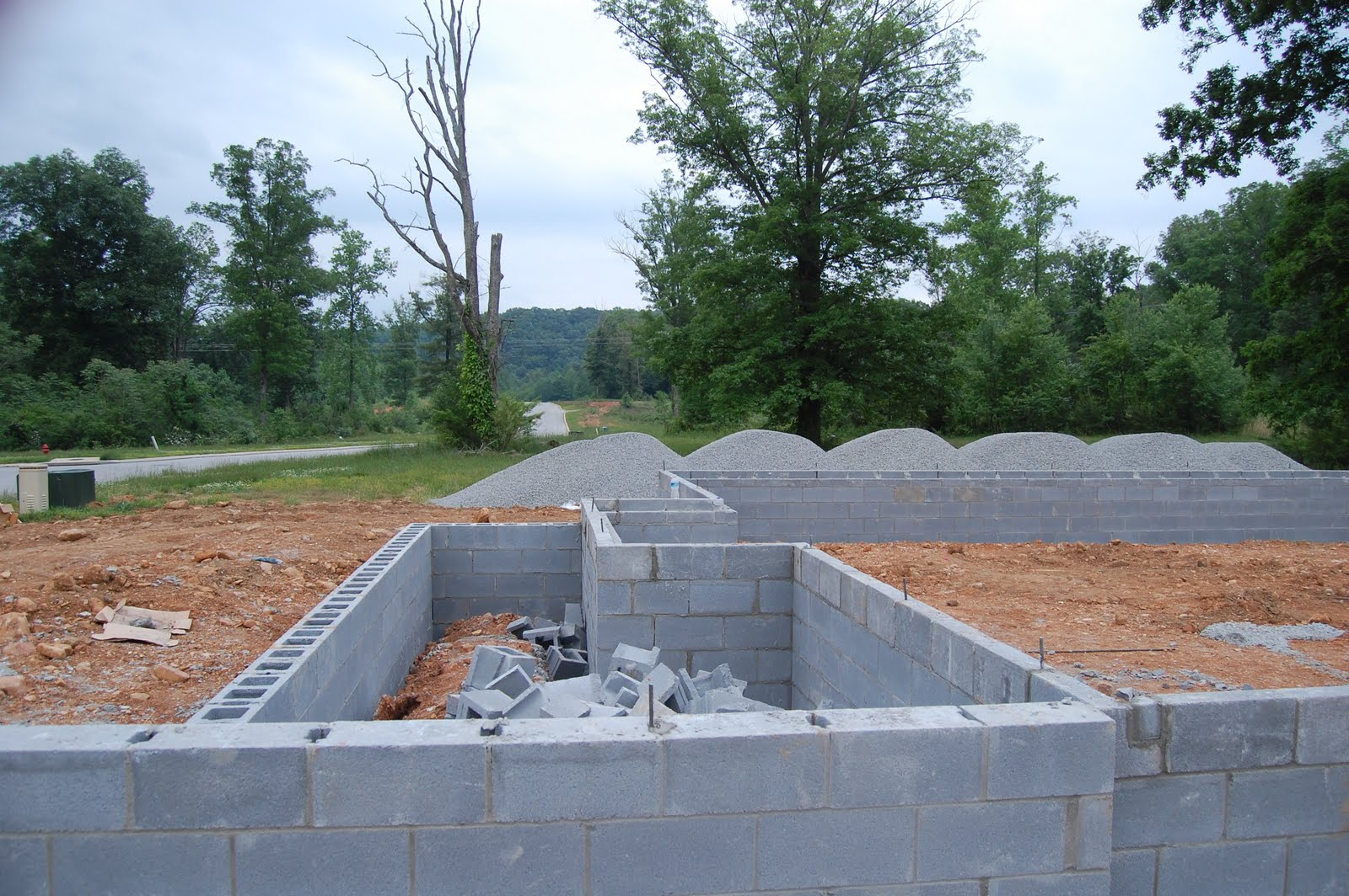 Home Building Project Concrete Blocks Completed