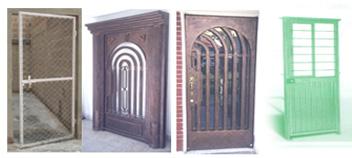 algunas fotografías de nuestro catálogo de puertas de herrería