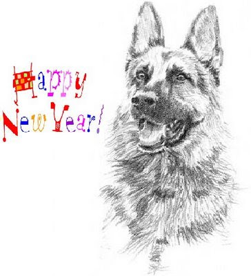 happy new year german shepard