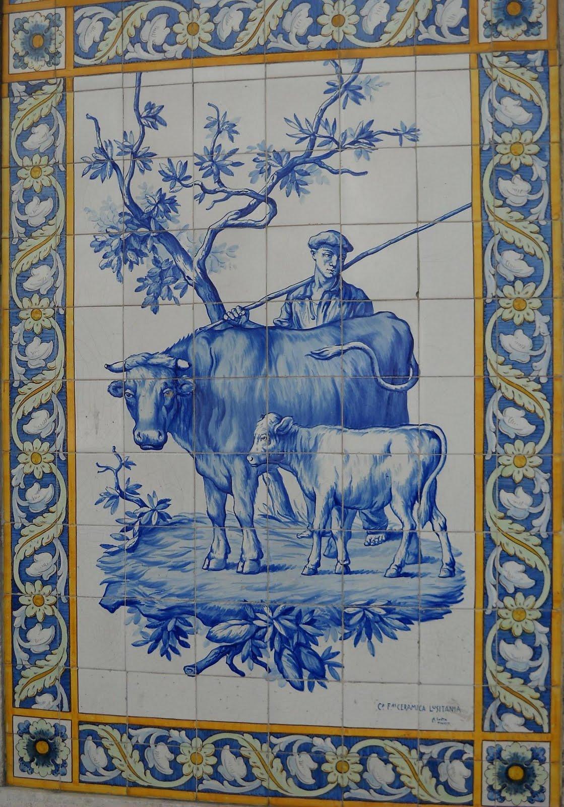 Velharias azulejos da lusit nia no largo da anunciada - Azulejos para exterior ...
