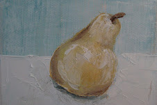 MINI PEAR PAINTING BY ME,  EXCLUSIVELY AT COLUMBARY HOUSE, MAINE
