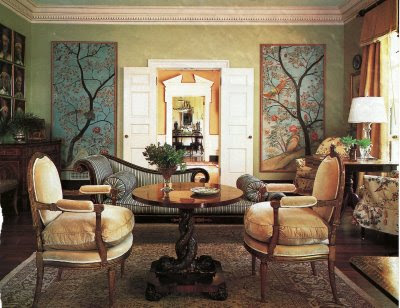 Site Blogspot  Wallpaper Room on Chinoiserie Chic  Framed Chinoiserie Wall Panels In Rooms