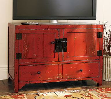 So I Was Delighted To See These Stylish Red Media Cabinets, Consoles, And  Armoires In The New Pottery Barn Offerings. All Come In This Desa Ming Red  ...
