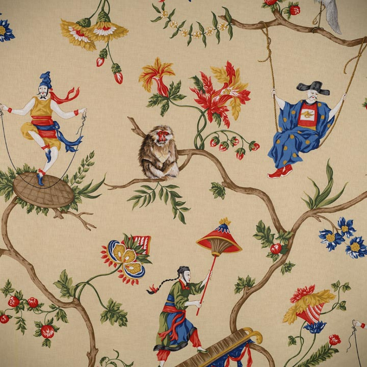 Chinoiserie chic scalamandre ming circus and patience for Chinoiserie design