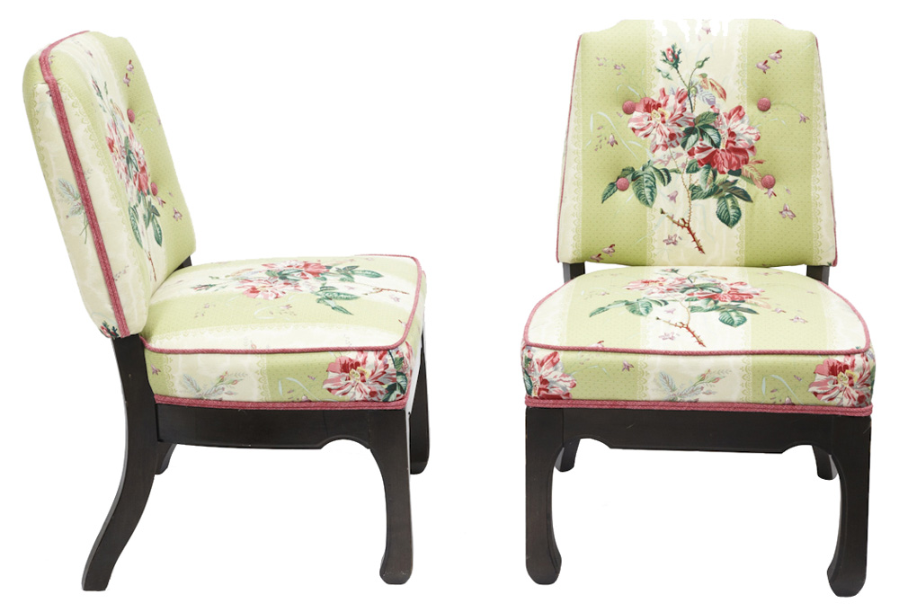 Chinoiserie Chippendale Chair Chinoiserie Chic Chinese Chippendale Slipper Chairs