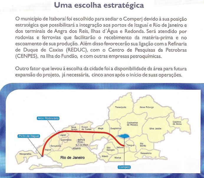 Localização do COMPERJ/PETROBRÁS