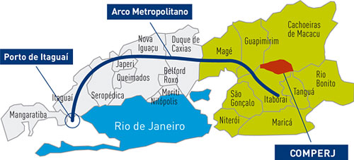 Mapa do COMPERJ