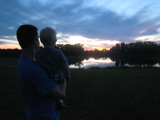 Kent and Carter at the pond.