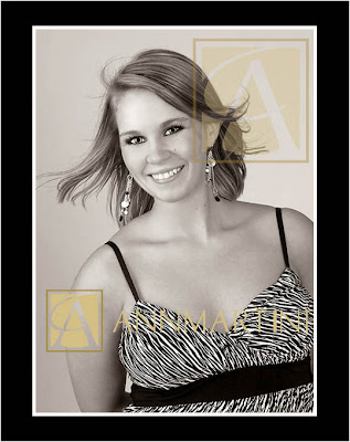 Dallas Texas professional senior portraits or pictures of Plano Texas girl in studio fun glamour poses