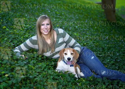 senior pictures poses with pet dog examples