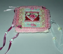 Fabric heart deco