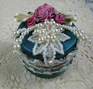 ~Satin & Pearl mini Jewel box ~
