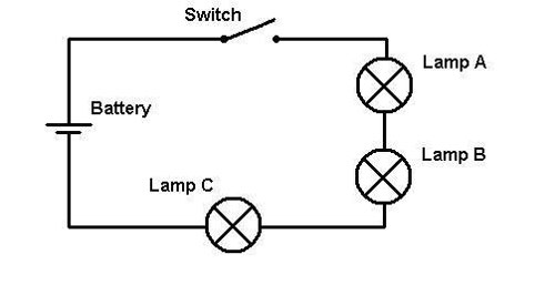3 way switch diagram with Series Circuit on Turn One Light Bulb On And Another Off At The Same Time With One Switch also Guitar wiring likewise 4 Wire Switch Schematic as well Psc Wiring Diagram in addition Series Circuit.