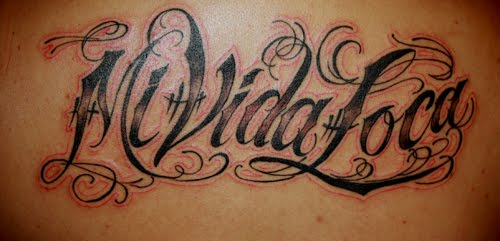 writting tattoos. the same writting kat von