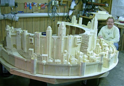 Minas Tirith Matchstick