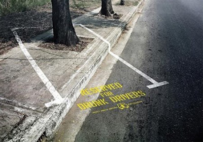 "Reserved for Drunk Drivers"" Advertisement"