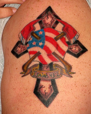 Colorful Fireman Tattoo