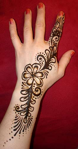 Arabic dulhan Mehndi patterns