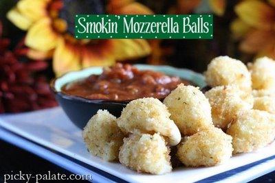 Smokin Mozzarella Balls via Picky-Palate