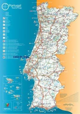 click to enlarge: the map of Portugal