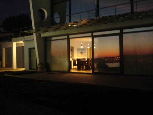 dinning area at sunset