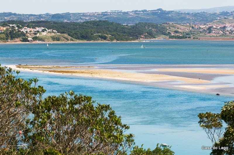 Obidos lagoon viewed from Foz do Arelho