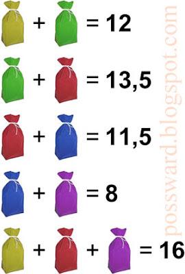 Разноцветные мешки