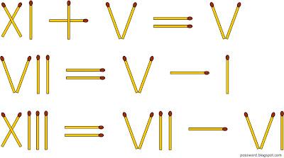 равенства из спичек