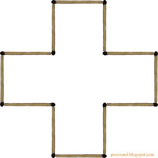 крест из спичек